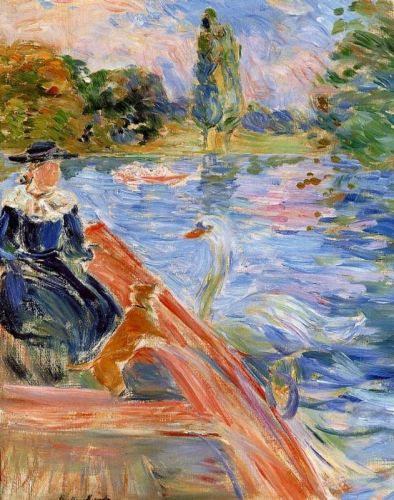 Boating on the Lake, 1892 by Berthe Morisot
