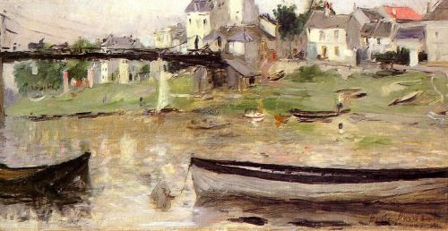 Boats on the Seine, 1880 by Berthe Morisot
