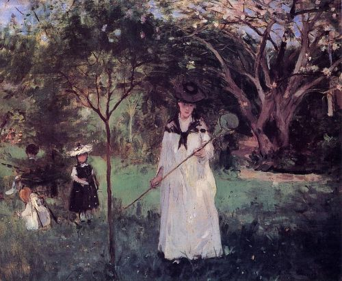 Chasing Butterflies (Chasse aux papillons), 1874 by Berthe Morisot