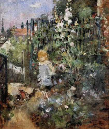 Child in the Rose Garden, 1881 by Berthe Morisot