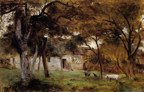 Farm in Normandy, 1859 by Berthe Morisot