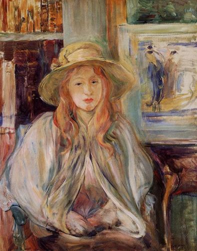 Girl in a Straw Hat, 1892 by Berthe Morisot