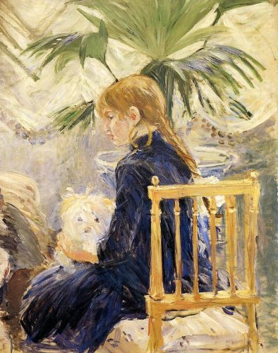 Girl with Dog, 1886 by Berthe Morisot