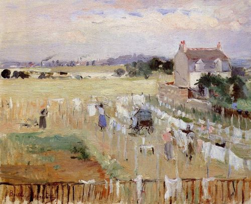 Hanging the Laundry out to Dry, 1875 by Berthe Morisot