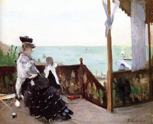 In a Villa at the Seaside, 1874 by Berthe Morisot