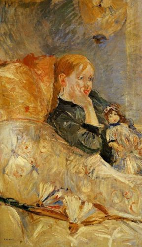 Little Girl with a Doll, 1886 by Berthe Morisot