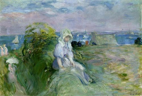 On the Cliff at Portrieux, 1894 by Berthe Morisot