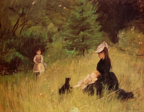 On the Lawn, 1874 by Berthe Morisot