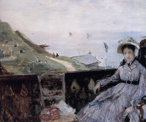 On the Terrace, 1874 by Berthe Morisot