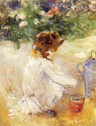 Playing in the Sand, 1882 by Berthe Morisot