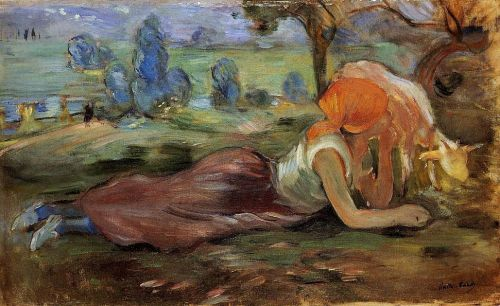 Shepherdess Laying Down, 1891 by Berthe Morisot