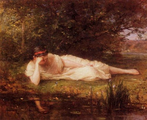 The Water's Edge (Study), 1864 by Berthe Morisot