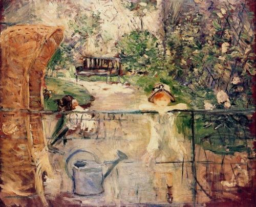 The Basket Chair (La hotte), 1885 by Berthe Morisot