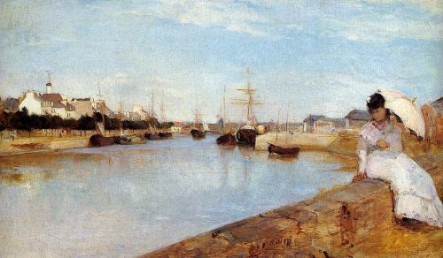 The Harbor at Lorient, 1869 by Berthe Morisot