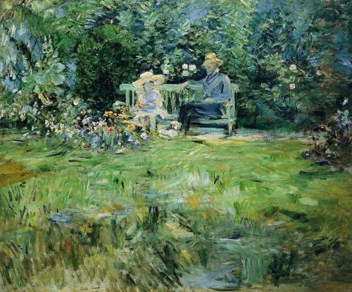 The Lesson in the Garden, 1886 by Berthe Morisot