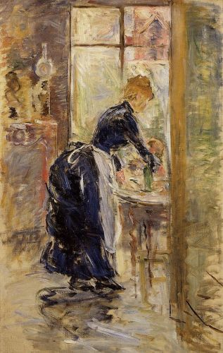 The Little Maid Servant, 1886 by Berthe Morisot
