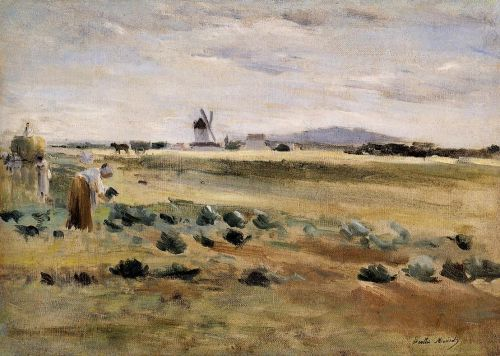The Little Windmill at Gennevilliers, 1875 by Berthe Morisot
