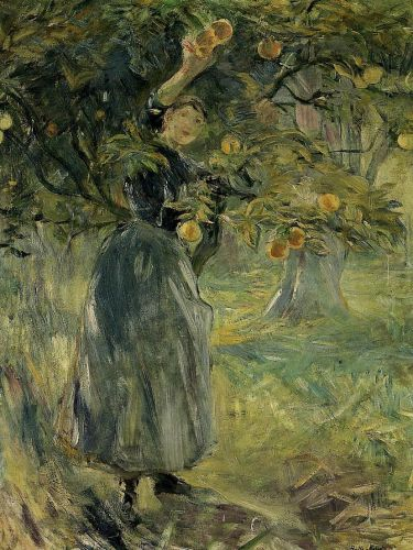 The Orange Picker, 1889 by Berthe Morisot
