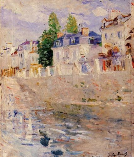 The Quay at Bougival, 1883 by Berthe Morisot