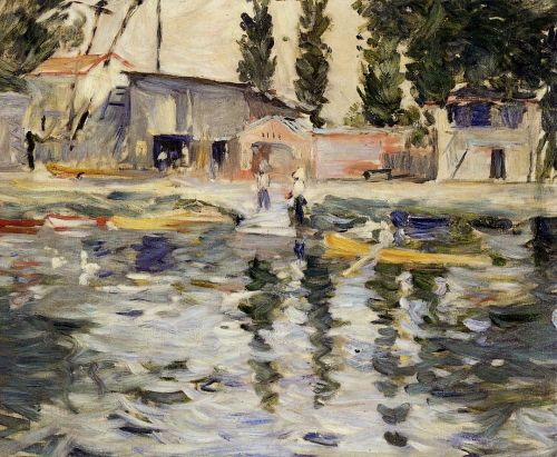 The Seine at Bougival, 1884 by Berthe Morisot