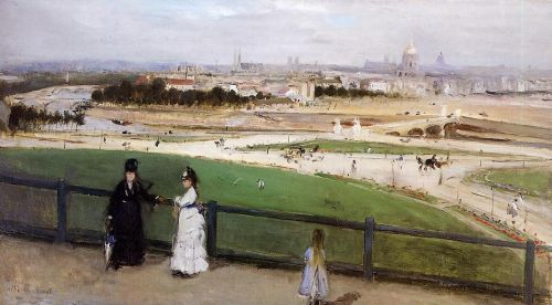 View of Paris from the Trocadero Heights, 1872 by Berthe Morisot