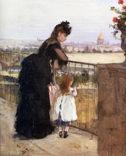 Woman and Child on a Balcony, 1871-1872 by Berthe Morisot