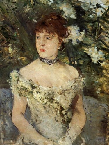 Young Woman Dressed for the Ball (Jeune femme en toilette de bal), 1879 by Berthe Morisot