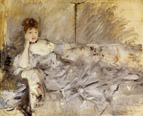 Young Woman in Grey Reclining, 1879 by Berthe Morisot