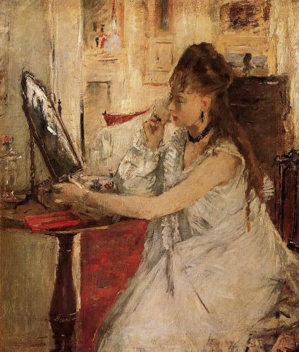 Young Woman Powdering Her Face, 1877 by Berthe Morisot