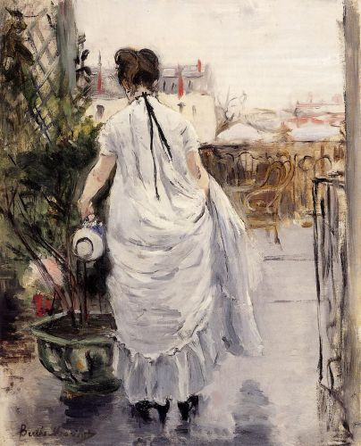 Young Woman Watering a Shrub, 1876 by Berthe Morisot
