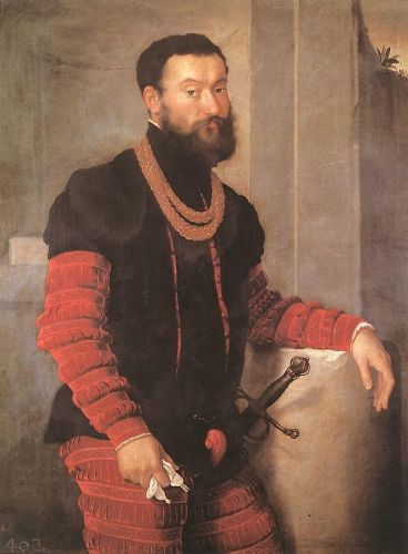 Portrait of a Soldier by Giovanni Battista Moroni