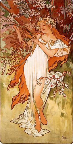Spring by Alphonse Maria Mucha