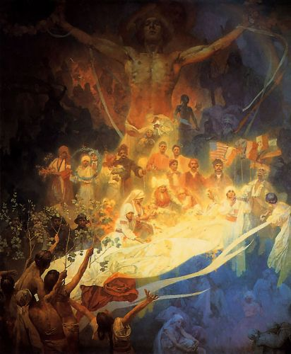The Apotheosis of the Slavs by Alphonse Maria Mucha