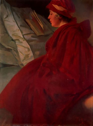 The Red Cape by Alphonse Maria Mucha