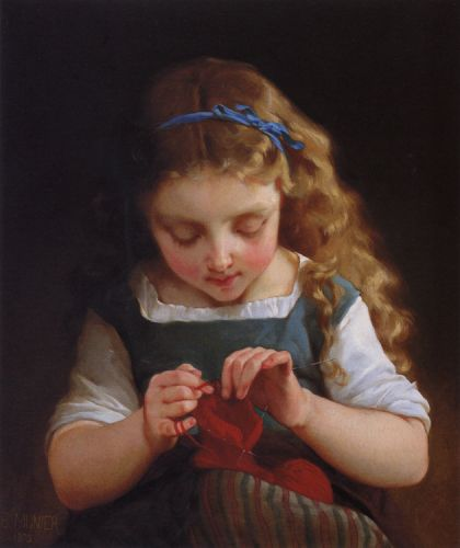 A Careful Stitch by Émile Munier