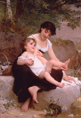 Mother and Child by Émile Munier
