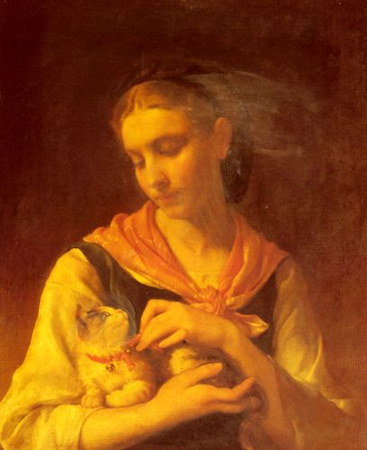 The Favorite Kitten by Émile Munier