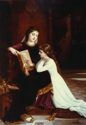 The Reading Lesson by Émile Munier