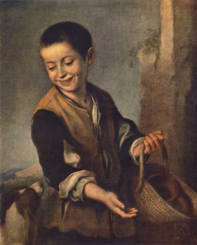 Boy with a Dog by Bartolomé Esteban Murillo