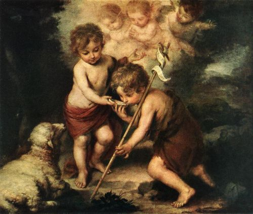 Children with Shell by Bartolomé Esteban Murillo