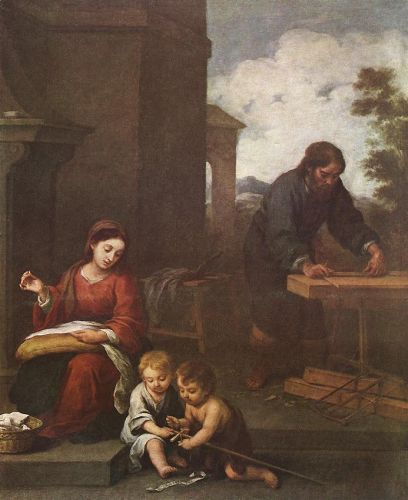 Holy Family with the Infant St John by Bartolomé Esteban Murillo