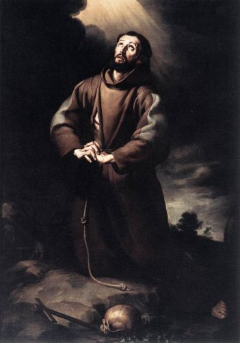 St Francis of Assisi at Prayer by Bartolomé Esteban Murillo