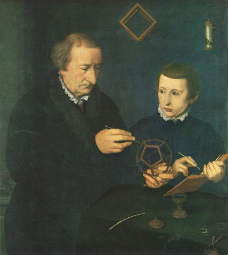 Portrait of Johannes Neudörfer and his Son by Nicolas Neufchatel