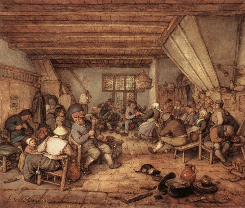 Feasting Peasants in a Tavern by Adriaen van Ostade