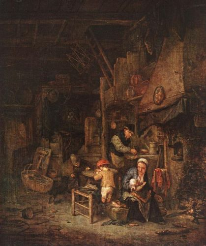 Interior with a Peasant Family by Adriaen van Ostade