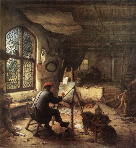 The Painter in His Studio by Adriaen van Ostade