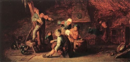 Village Feast by Adriaen van Ostade