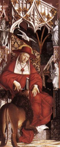 Altarpiece of the Church Fathers: St Jerome by Michael Pacher