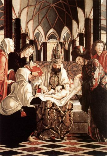 St Wolfgang Altarpiece: Circumcision by Michael Pacher