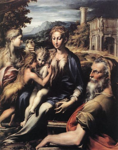 Madonna and Child with Saints by Girolamo Parmigianino